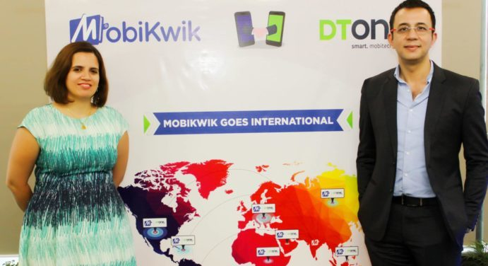 Photo-L-R) Upasana Taku, Co-founder - MobiKwik and Krishnadeep Baruah, EVP APAC- DT One